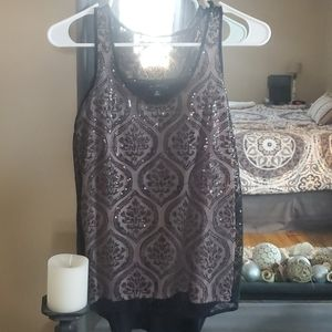 Limited sequined tank